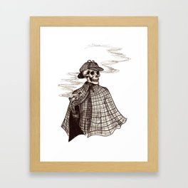 Sherlock Bones Framed Art Print