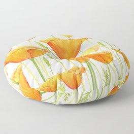 Blossom Poppies Floor Pillow