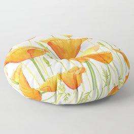 Blossom Poppies Floor Pillow