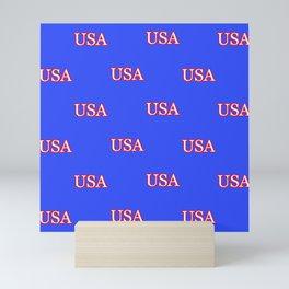 USA - Blue Mini Art Print
