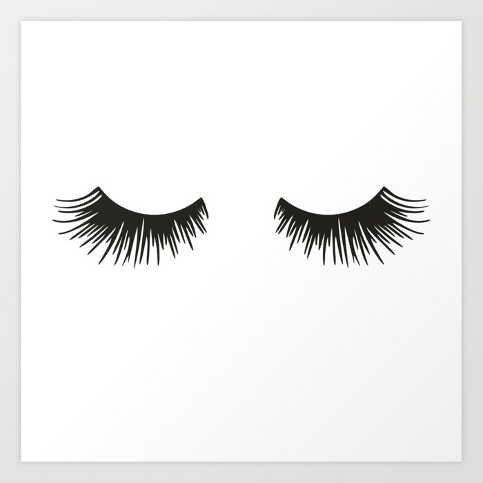 Closed Eyelashes Kunstdrucke