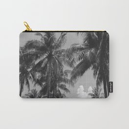 Palm Trees Black and White Photography Carry-All Pouch