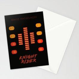 Knight Rider, David Hasselhoff, minimalist poster, supercar, El Coche fantastico, 80s tv show, KITT Stationery Cards