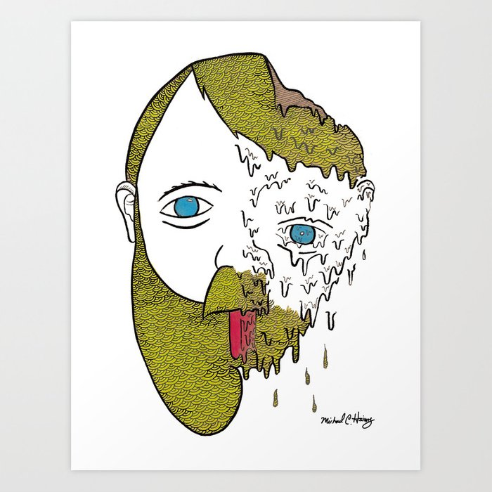 Face Melter Print Art Print