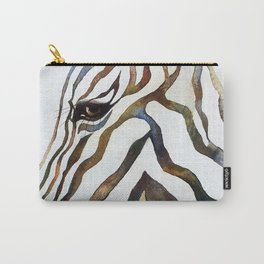 Stripey Zebra Portrait Carry-All Pouch
