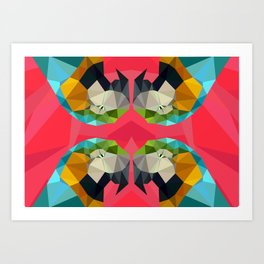 TRIPPY PARROT Art Print