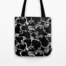 Abstract black and white polka dot pattern . Tote Bag