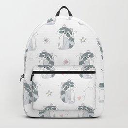 Hand Drawn Raccoons Backpack