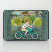 motorcycle iPad Cases featuring Motorcycle by Rebekka Ivacson