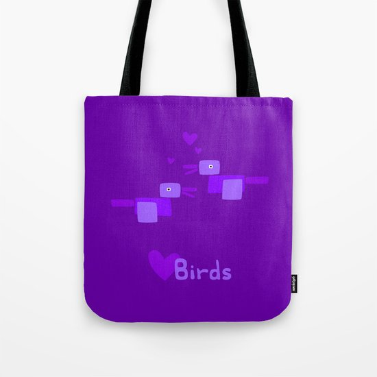 Love Birds-Purple Tote Bag