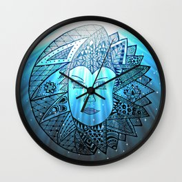 Sun Spirit meet Moon Beam Wall Clock