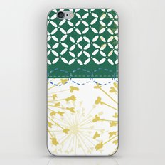 Boho dandelion green and yellow iPhone & iPod Skin