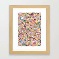 emoji / emoticons Framed Art Print