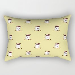 Coffee Mug Addicted To Coffee pattern Rectangular Pillow
