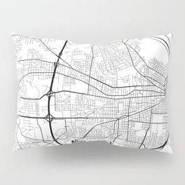 Mobile Map, Alabama USA - Black & White Portrait Pillow Sham