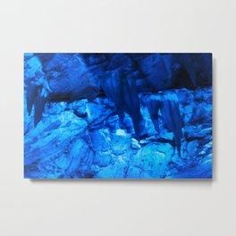 Blue Ice Cave Metal Print