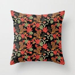 Autumn squirrel Throw Pillow