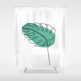 Foliage line Shower Curtain