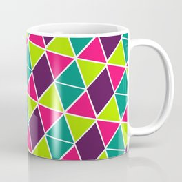 Berry Geo Triangles Coffee Mug