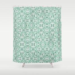 Emerald art deco doodle Shower Curtain