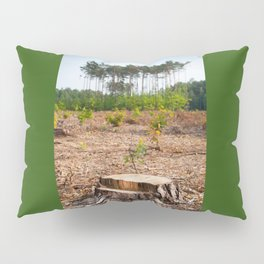 Woods logging one stump after deforestation Pillow Sham