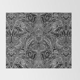 Subconscious Garden - Reverse Throw Blanket