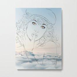 Hey, you, get off my cloud Metal Print