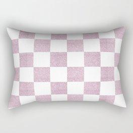 Elegant pink glitter chevron checkers pattern Rectangular Pillow