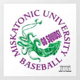 Miskatonic University Baseball Team Art Print