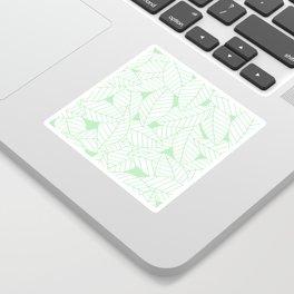 Leaves in Wintergreen Sticker
