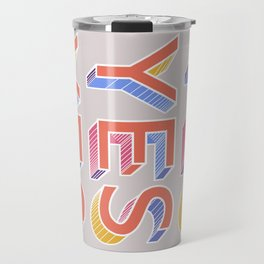YES - typography Travel Mug