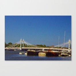 Albert Bridge on the Thames in London Canvas Print