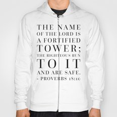 Proverbs 18:10 Bible Quote Hoody