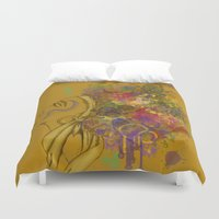 afro Duvet Covers featuring Afro by KiraTheArtist