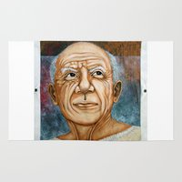 picasso Area & Throw Rugs featuring Pablo Picasso by Michael Cu Fua