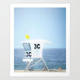Lifeguard Hut, Southern California Beach Art by Murray Bolesta! Art Print