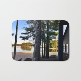 Spring Camping on Sebago Lake Bath Mat
