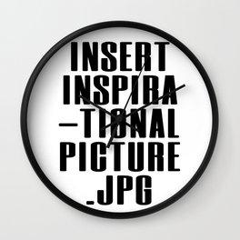 Insert Inspiration Wall Clock