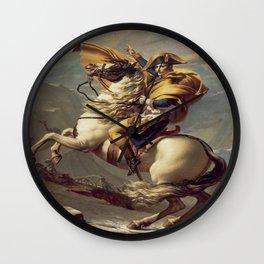 Jacques-Louis David's Napoleon Crossing the Alps Wall Clock