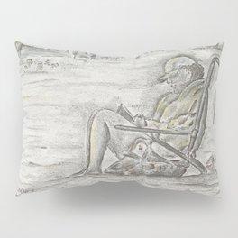 Beach Reader Pillow Sham