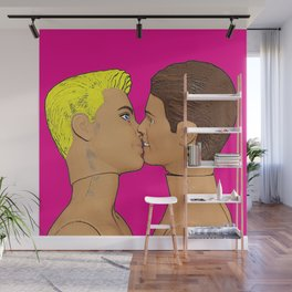 Love & Pride Gay Kiss - Gay Art! Wall Mural