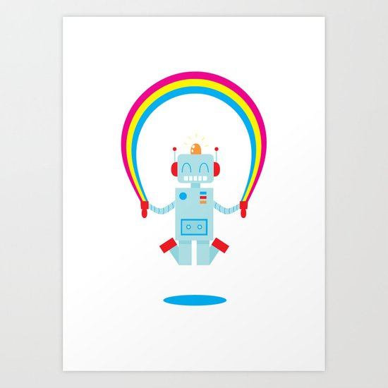 Skipping a Rainbow Art Print