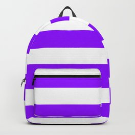 Electric violet - solid color - white stripes pattern Backpack