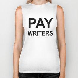 PAY WRITERS Biker Tank