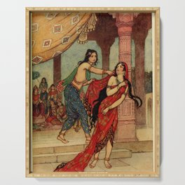 The ordeal of Queen Draupadi Serving Tray