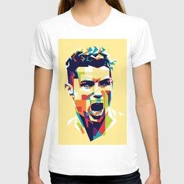 colorful illustration of ronaldo T-shirt
