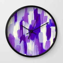 Purple Cora Wall Clock