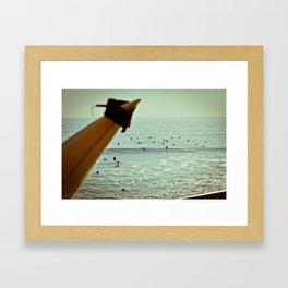 Santa Cruz Line Up Framed Art Print