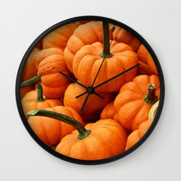 Autumn Pumpkins Wall Clock