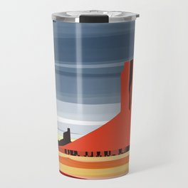 Monument Valley sunset magic realisim Travel Mug